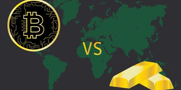 Bitcoin VS goud