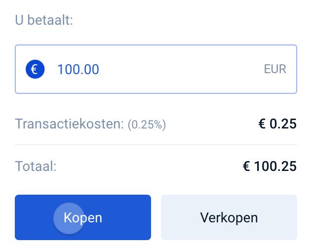 Bitvavo transactiekosten